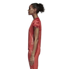 adidas AdiZero Naiset Lyhythihainen juoksupaita , punainen
